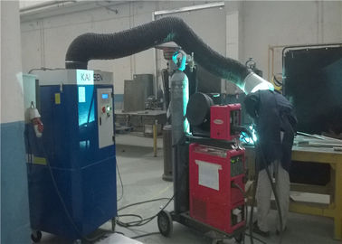 Industrial Welding Smoke  Extraction Unit With Single Arm Of φ250 Mm Fume Collector For Aluminum Plate Welding